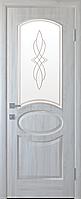 """Міжкімнатні двері """"Овал"""" G 700, колір ясен new з малюнком Р1"""