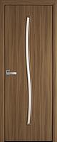 "Міжкімнатні двері ""Гармонія"" G 600, колір вільха 3D , ліві"