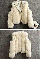 Женская кожаная куртка с меховыми вставками. Модель 2566, фото 7