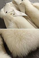 Женская кожаная куртка с меховыми вставками. Модель 2566, фото 9