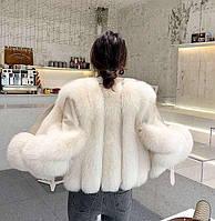 Женская кожаная куртка с меховыми вставками. Модель 2566, фото 5