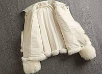 Женская кожаная куртка с меховыми вставками. Модель 2566, фото 6