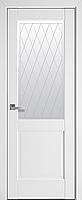 """Міжкімнатні двері """"Епіка"""" G 700, колір білий матовий з малюнком Р2"""