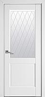 """Міжкімнатні двері """"Епіка"""" G 800, колір білий матовий з малюнком Р2"""