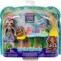Кукла Enchantimals Салон красоты со зверюшкой и тематическим набором GFN54, фото 1