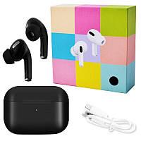 Беспроводные наушники Apl AirPros Pro TWS Bluetooth 5.0 стерео сенсорные, блютуз гарнитура, черные
