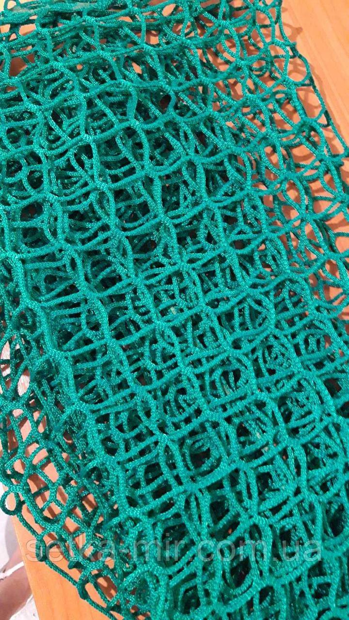 Сетка спортивная оградительная безузловая испанская, полипропилен, D – 3 мм, ячейка –4,5 см, защитная, зелёная