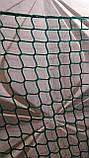 Сетка спортивная оградительная безузловая испанская, полипропилен, D – 3 мм, ячейка –4,5 см, защитная, зелёная, фото 5