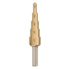Сверло ступенчатое по металлу 4-12 мм