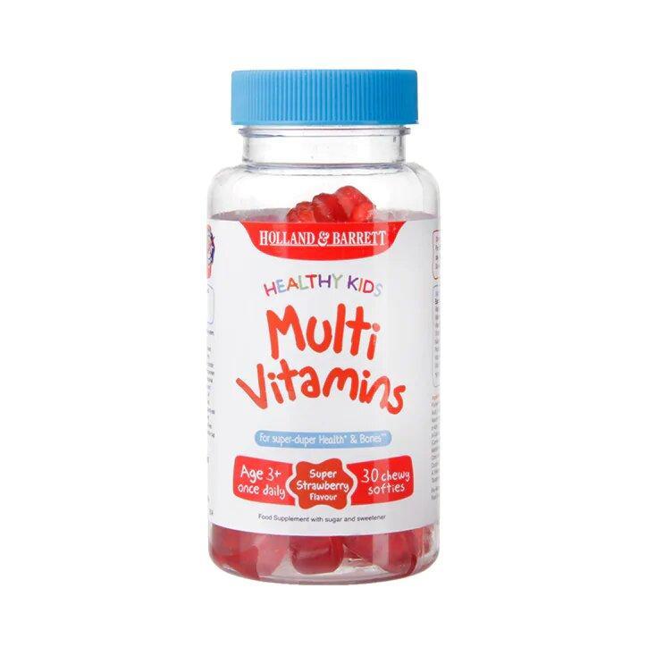 Поливитаминны для детей Holland & Barrett Multivitamins Healthy Kids, 30 шт.