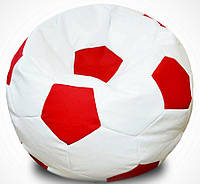 "Кресло-мяч ""White-red"" Bel.i.v. 120 см (кожзам FLY)"