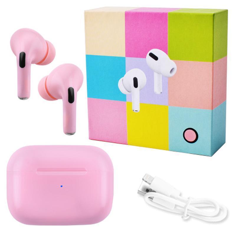 Беспроводные наушники Apl AirPros Pro TWS Bluetooth 5.0 стерео сенсорные, блютуз гарнитура, розовые