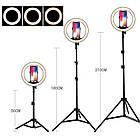 Кольцевая лампа светодиодная LK-33 для блогера, косметолога, визажиста (30 см) + штатив 2,1 метра, фото 3