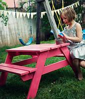 Оригинальный детский столик уличный ручной работы