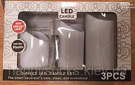 Набір з 3 LED свічок з дистанційним управлінням