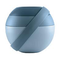 Ланч бокс для салата синий, с аккумулятором холода и столовыми приборами 100100161 GUZZINI