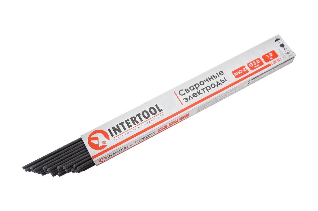 Електроди зварювальні Intertool - 4 мм x 2,5 кг АНО-21