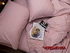 Двуспальный набор постельного белья 180*220 из Страйп Сатина №541611 KRISPOL™