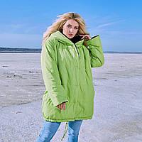 Женская длинная двусторонняя водонепроницаемая куртка