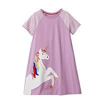 Платье для девочки Цветочный единорог Little Maven (2 года)
