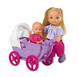 Кукла Эви с малышом в коляске Simba Toys 5736241