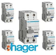 Дифференциальные автоматические выключатели (дифавтоматы) Hager