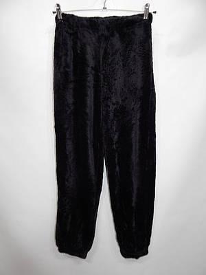 Женские меховые домашние теплые брюки флис  р.46-48  004GDB