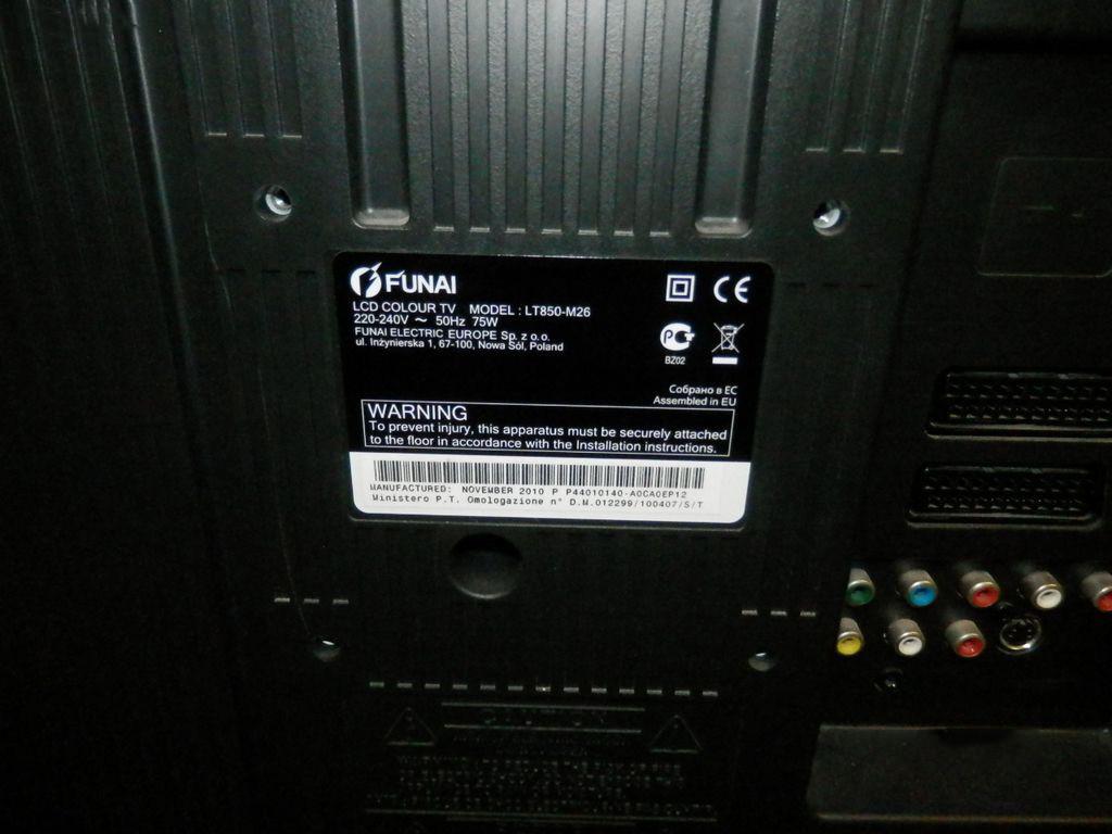 Телевизор, Funai lt850-m26, 26 дюймов