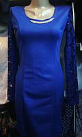 Женское нарядное платье с гипюром