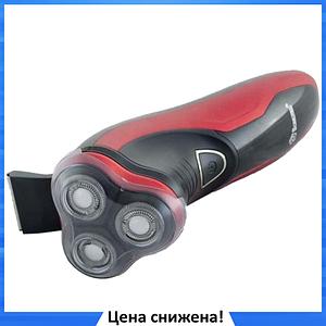 Электробритва Domotec MS-7731 - беспроводная бритва с тримером Красная
