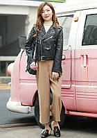 Женская кожаная куртка с шипами. Модель 657-2, фото 4
