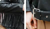 Женская кожаная куртка с шипами. Модель 657-2, фото 6