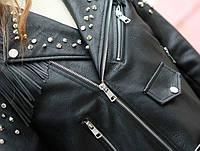 Женская кожаная куртка с шипами. Модель 657-2, фото 7