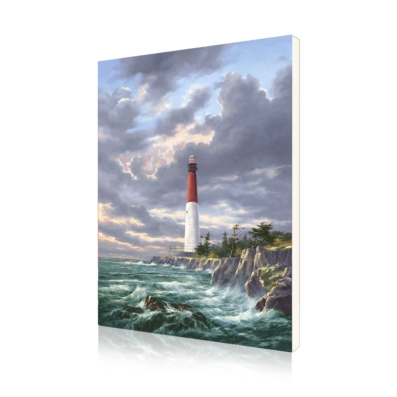 "Картина по номерам Lesko DIY Y5064 ""Одинокий маяк"" 40-50см набор для творчества живопись"