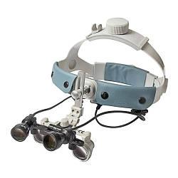 Бинокулярный увеличитель ECMG-3,0x-RD ErgonoptiX микро Галилея с осветителем D-Light Duo HD