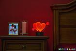 """3D светильник """"Два сердца со стрелой"""" 3DTOYSLAMP, фото 2"""