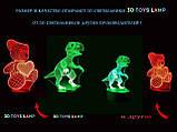 """3D светильник """"Два сердца со стрелой"""" 3DTOYSLAMP, фото 6"""