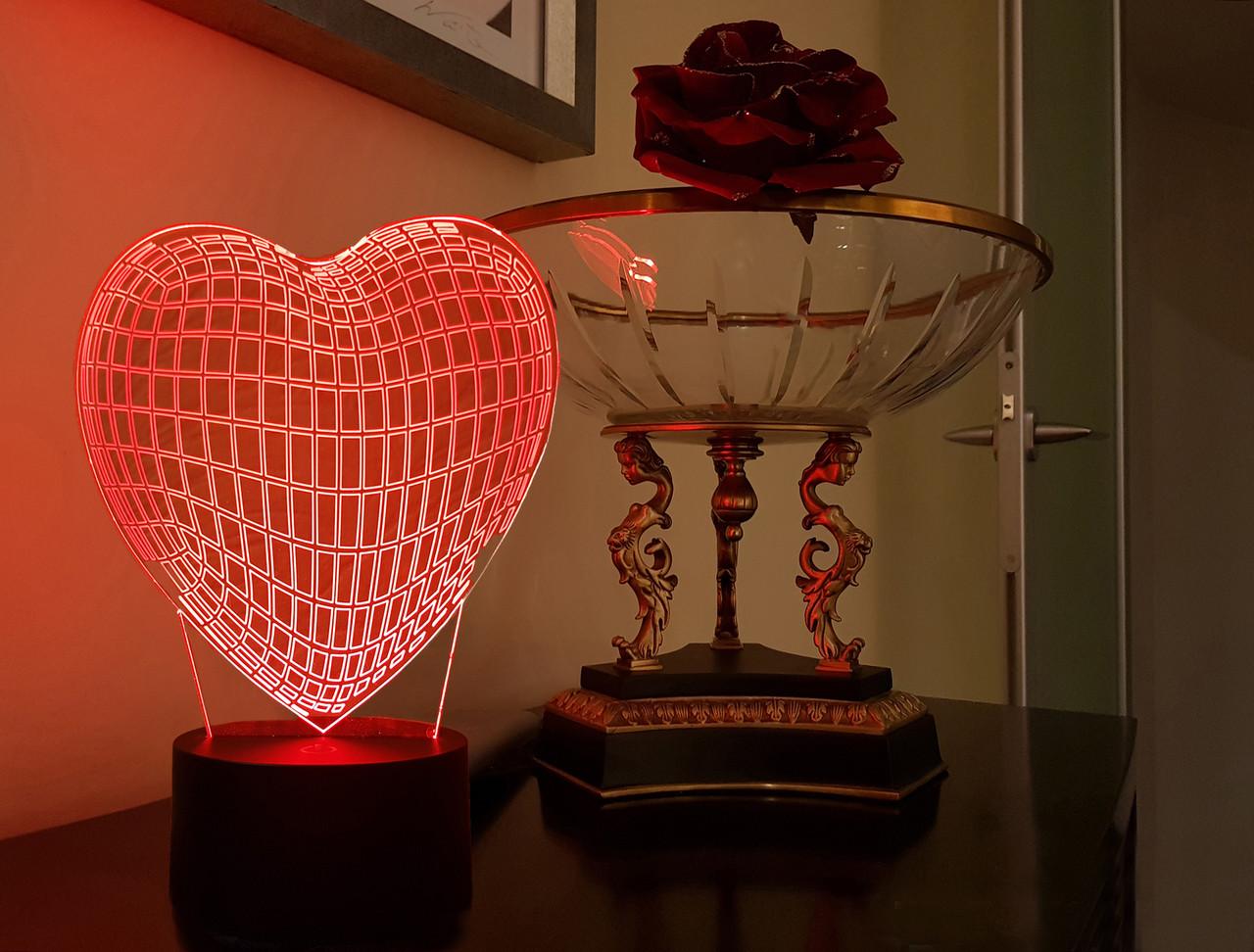 """3d ночник """"Сердце"""" 3DTOYSLAMP"""