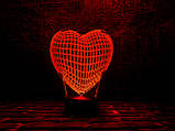 """3d ночник """"Сердце"""" 3DTOYSLAMP, фото 2"""