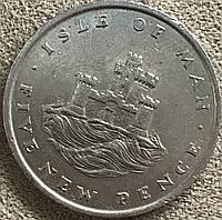 Монета острова Мен 5 новых пенсов  1975 г., фото 1