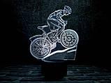 """Ночник 3D Светильник """" Велосипед 3"""" 3TOYSLAMP, фото 2"""