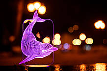 """3D світильник """"Дельфін"""" 3DTOYSLAMP"""