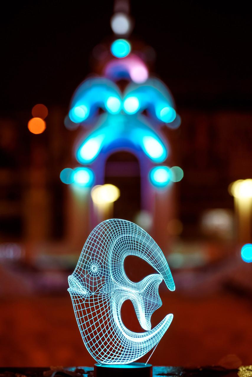 """3D светильник """"Коралловая рыбка"""" 3DTOYSLAMP"""