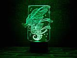 """3d светильник """"Морской конек"""" 3DTOYSLAMP, фото 2"""