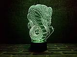 """Детский 3d светильник """"Кобра"""" 3DTOYSLAMP, фото 2"""