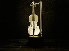 "3D нічник ""Скрипка"" 3DTOYSLAMP"