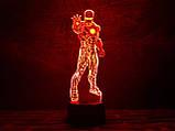 """Ночник - светильник детский """"Железный человек 1"""" 3DTOYSLAMP, фото 2"""