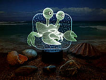 "3D світильник ""Краб"" 3DTOYSLAMP"