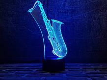 "3D світильник ""Саксофон"" 3DTOYSLAMP"