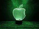 "3d светильник ""Apple"" 3DTOYSLAMP, фото 2"